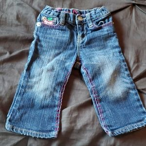Adorable girl jeans